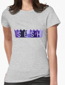 Bones Purple Accent Womens Fitted T-Shirt