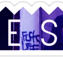 Bones Purple Accent Sticker