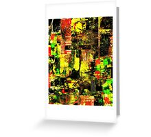Bright Autumn Colours Collage Greeting Card