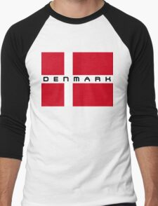Danish Flag Men's Baseball ¾ T-Shirt