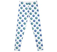 seamless watercolor pattern with drops in blue and green color.  Leggings
