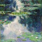 Pond with Water Lilies Monet Fine Art by Vicky Brago-Mitchell