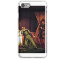 Jean Schnetz - The Sack of Rome in  by the Army of the Constable of Bourbon  iPhone Case/Skin