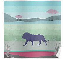 Lions are big kitties Poster