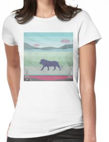 Lions are big kitties Womens Fitted T-Shirt