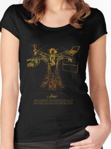 Vitruvian Artist - Gold and Black Series Women's Fitted Scoop T-Shirt