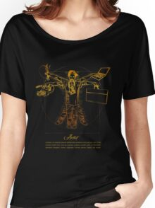 Vitruvian Artist - Gold and Black Series Women's Relaxed Fit T-Shirt