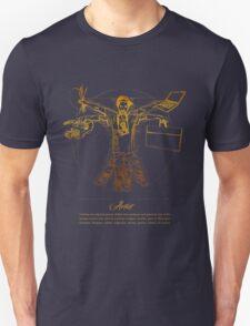 Vitruvian Artist - Gold and Black Series Unisex T-Shirt