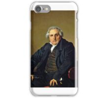 Jean-Auguste-Dominique Ingres - Portrait of French journalist Louis-François Bertin  iPhone Case/Skin