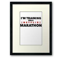 (Netflix) marathon Framed Print