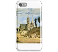 Jean-Baptiste Camille Corot - Chartres Cathedral, West Facade iPhone Case/Skin