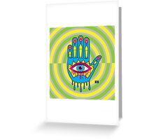 Hand in Eye Hamsa Pop Art Greeting Card