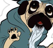 Wizard Pug Sticker