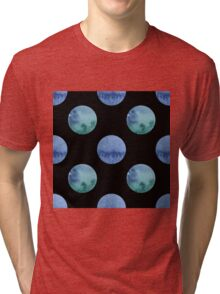 seamless watercolor pattern with drops in blue and green color.  Tri-blend T-Shirt