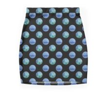 seamless watercolor pattern with drops in blue and green color.  Mini Skirt