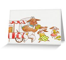 Ice Cream Rabbit Greeting Card~ The Good and Bad Greeting Card