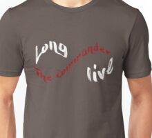 Long Live The Commander - White Unisex T-Shirt