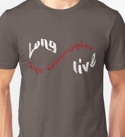 Long Live The Commander - White Unisex T-Shirt