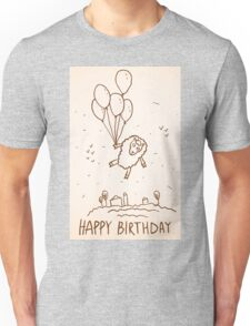 Funny sheep with balloons Unisex T-Shirt