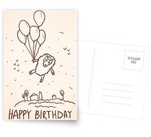 Funny sheep with balloons Postcards