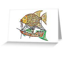 Fish Airship Greeting Card