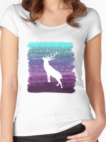 Deer from the Purple Dream Women's Fitted Scoop T-Shirt