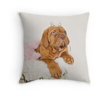 Dogue De Bordeaux Princess Puppy Throw Pillow