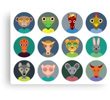 Chinese zodiac collection Canvas Print