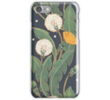dandelion seamless pattern iPhone Case/Skin