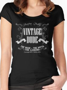 Vintage Dude Tshirt The Man The Myth The Legend Women's Fitted Scoop T-Shirt