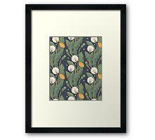 dandelion seamless pattern Framed Print