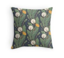 dandelion seamless pattern Throw Pillow