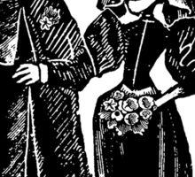 Skeleton Wedding (Border) Sticker