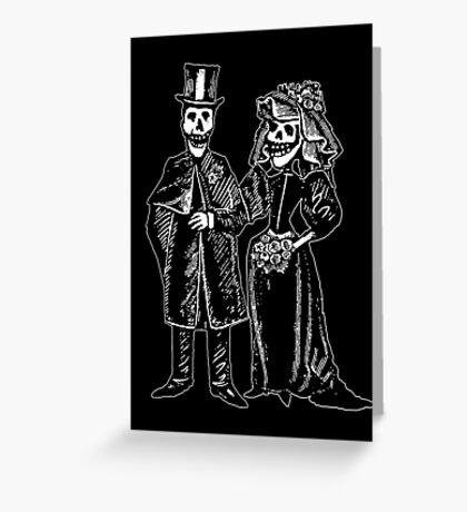 Skeleton Wedding Greeting Card
