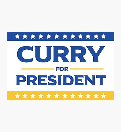 Curry for President Photographic Print