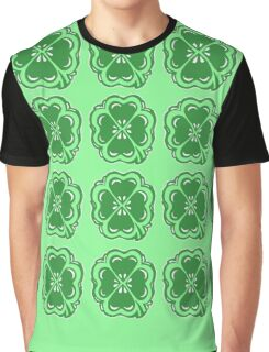 Lucky Clovers Pattern Graphic T-Shirt