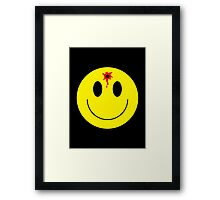 bullet smiley Framed Print