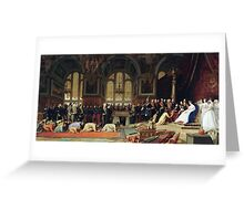 Jean-Léon Gérôme - The Reception of the Siamese Ambassadors at Fontainebleau  Greeting Card