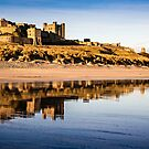 Bamburgh Castle Reflections by David Lewins