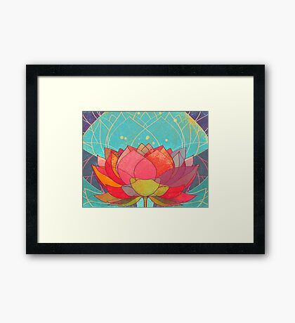 space lotos Framed Print