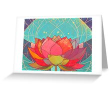space lotos Greeting Card