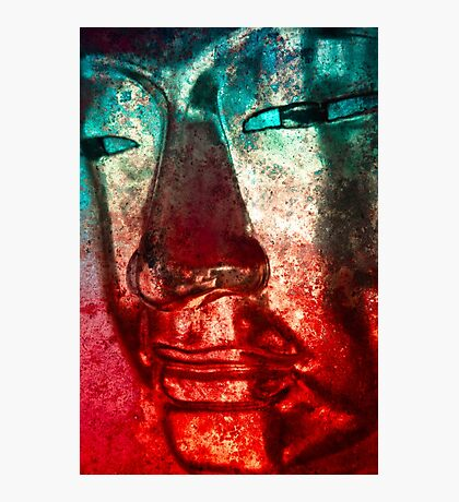 Buddha Face red Photographic Print
