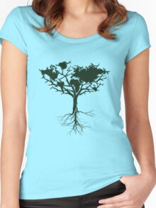 Earth tree *dark green edition Women's Fitted Scoop T-Shirt