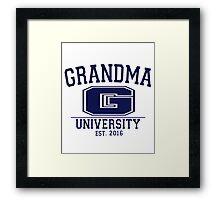 Grandma University EST. 2016 Framed Print