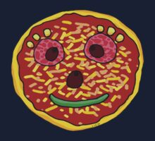 Funny pizza face Kids Tee
