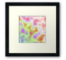 Pastel Coloured Clouds Framed Print