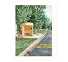 Canberra Bus Stop Richardson Art Print