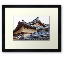 Architecture Of Bukchon Hanok Village  Framed Print