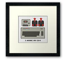 I adore my C64! Framed Print