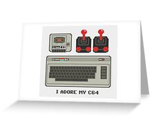 I adore my C64! Greeting Card